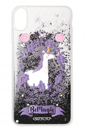 Cover GLITTER Liquid Apple iPhone X/XS BLACK - Unicorno Be Magic