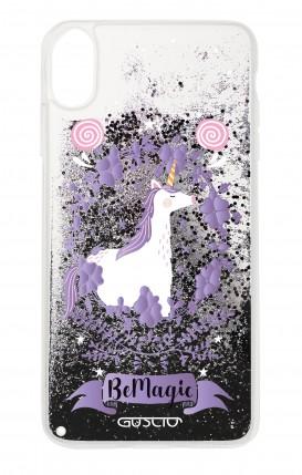 Cover GLITTER Liquid Apple iPhone X/XS BLACK - Unicorno Be Magic