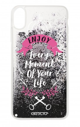 Cover GLITTER Liquid Apple iPhone X/XS BLACK - Enjoy Every Moment...