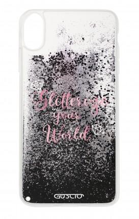 Cover GLITTER Liquid Apple iPhone X/XS BLACK - Glitterize Your World