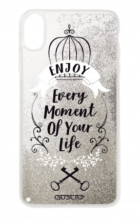 Cover GLITTER Liquid Apple iPhone X/XS SILVER - Enjoy Every Moment...