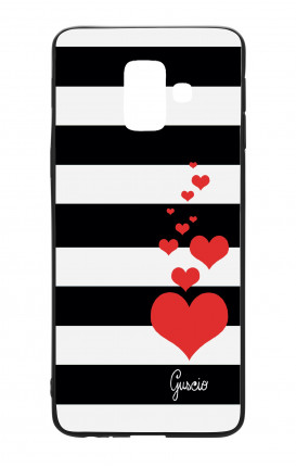 Cover Bicomponente Samsung A6 Plus WHT - Loving Stripes