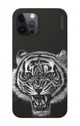 """Soft Touch Case Apple iPhone 12 PRO MAX 6.7"""" - Black Tiger"""