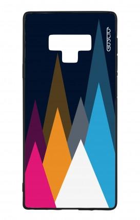 Cover Bicomponente Samsung Note 9 WHT - Cime su fondo Blu