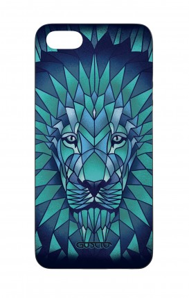 Apple iPhone 5 WHT Two-Component Cover - Prismatic Lion
