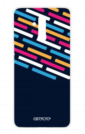 Cover Huawei Mate 20 Lite - Righe su fondo Blu