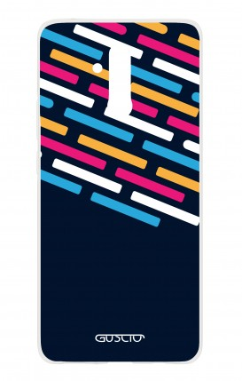 Cover HUAWEI Mate 20 Lite - Stripes on Dark Blue