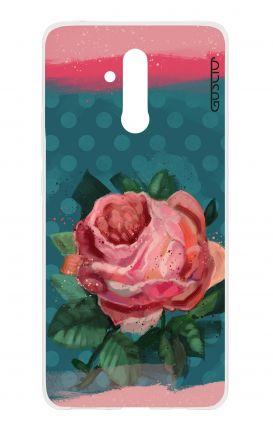 Cover TPU Huawei Mate 20 Lite - Rosa e pois blu