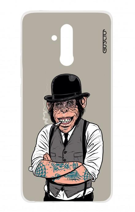 Cover Huawei Mate 20 Lite - Scimmia con bombetta