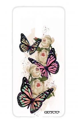 Cover HUAWEI Mate 20 Lite - Butterflies white