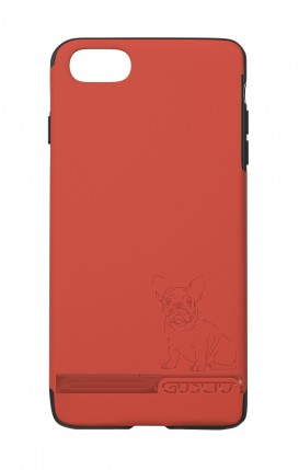Cover Skin Feeling Apple iPhone 7/8 RED - French Bulldog