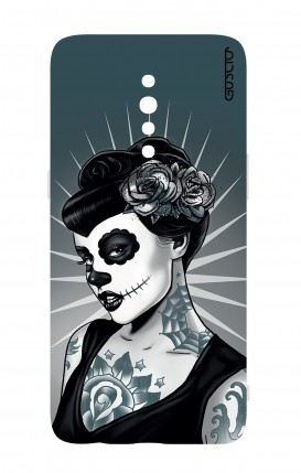 Cover Oppo Reno Z - Calavera Grey Shades
