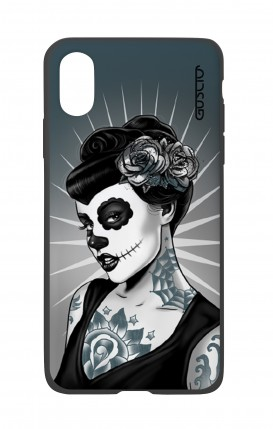 Apple iPh XS MAX WHT Two-Component Cover - Calavera Grey Shades