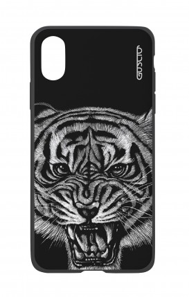 Apple iPh XS MAX WHT Two-Component Cover - Black Tiger