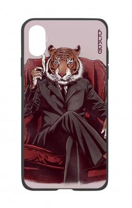 Cover Bicomponente Apple iPhone XS MAX - Tigre elegante