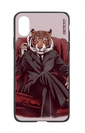Apple iPh XS MAX WHT Two-Component Cover - Elegant Tiger
