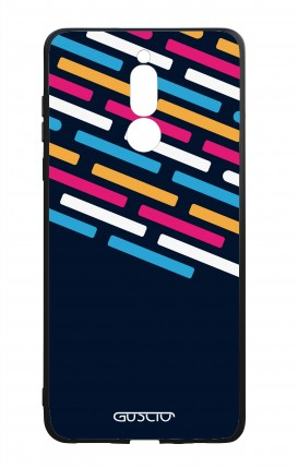 Huawei Mate10Lite WHT Two-Component Cover - Stripes on Dark Blue
