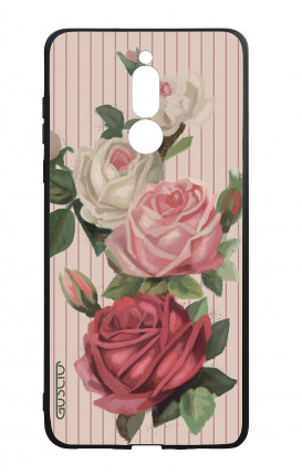 Cover Bicomponente Huawei Mate 10 Lite - Rose e righe