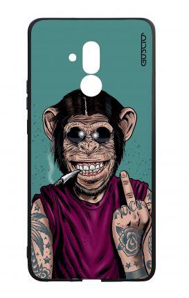 Cover Bicomponente Huawei Mate 20 Lite - Scimmia felice