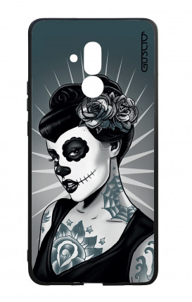 Huawei Mate20Lite WHT Two-Component Cover - Calavera Grey Shades
