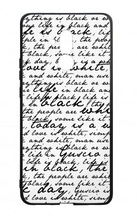 Cover Bicomponente Huawei Mate 20 Lite - Scritte in bianco e nero