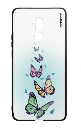 Huawei Mate20Lite WHT Two-Component Cover - Butterflies & Leaves