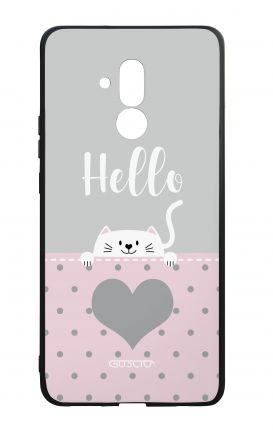 Huawei Mate20Lite WHT Two-Component Cover - Hello Cat