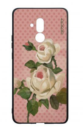 Cover Bicomponente Huawei Mate 20 Lite - Rose e pois