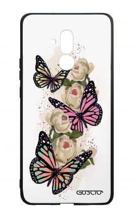 Huawei Mate20Lite WHT Two-Component Cover - Butterflies white