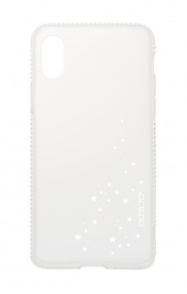 Cover Apple iPhone XS MAX Diamonds - Cascata di stelle bianco