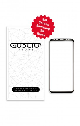 Tempered Glass SilkScreen 3D - Samsung S8 Full Glue Curved - Neutro