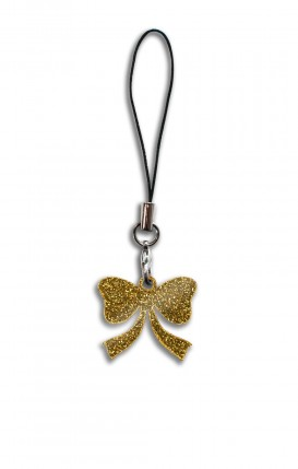 CHARMS_3 GLITTER GOLD (2/3cm pendant) - CHARM_Bow