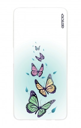 Cover Samsung A7 2018 - Butterflies & Leaves
