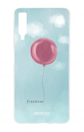 Cover TPU Samsung A7 2018 - palloncino della libertà