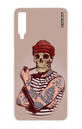 Cover Samsung A7 2018 - Skull Sailor with Red Cup