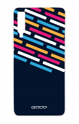Cover Samsung A7 2018 - Stripes on Dark Blue
