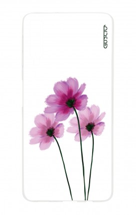 Cover Samsung A7 2018 - Flowers on white