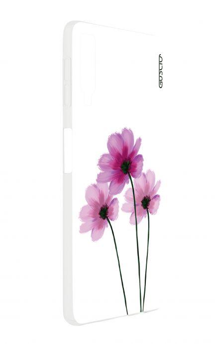 Cover Samsung A7 2018 - Fiori su bianco