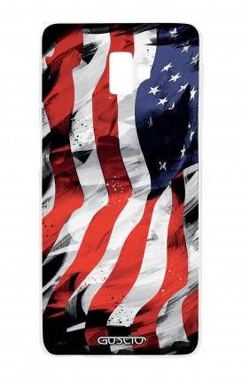 Cover Samsung J6 Plus - Bandiera americana