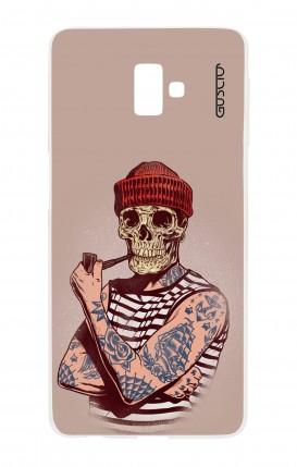 Cover Samsung J6 Plus - Skull Sailor with Red Cup