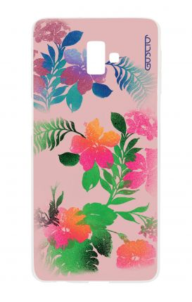 Cover Samsung J6 Plus - Flowers Pink