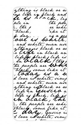 Cover TPU HUAWEI Mate 20 PRO - Scritte in bianco e nero