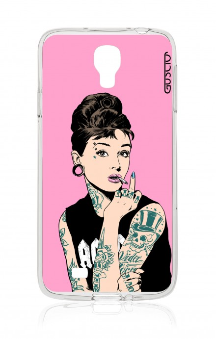 Cover Samsung Galaxy S4 GT i9500 - PINK Audrey Tattoo