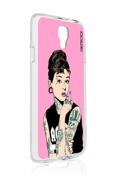 Cover Samsung Galaxy S4 - Audrey tatuata rosa