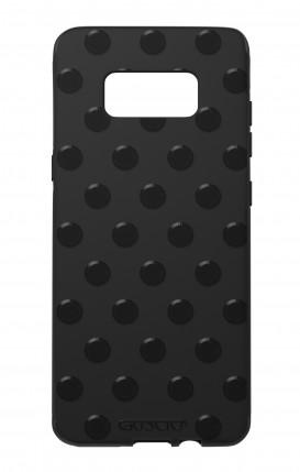 Cover Skin Feeling Samsung S8 BLK - Polka Dot