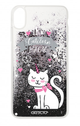 Cover GLITTER Liquid Apple iPhone XS MAX BLACK - Caticorn