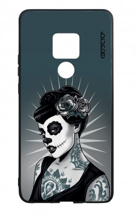 Huawei Mate20 WHT Two-Component Cover - Calavera Grey Shades