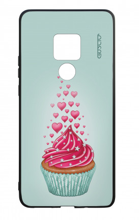 Huawei Mate20 WHT Two-Component Cover - Cupcake in Love