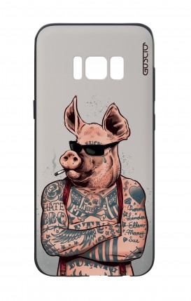Samsung S8 White Two-Component Cover - Hate BBQ