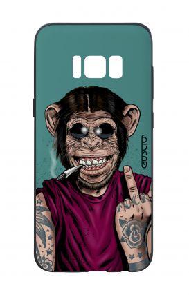 Cover Bicomponente Samsung S8 - Scimmia felice